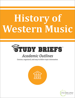 History of Western Music cover