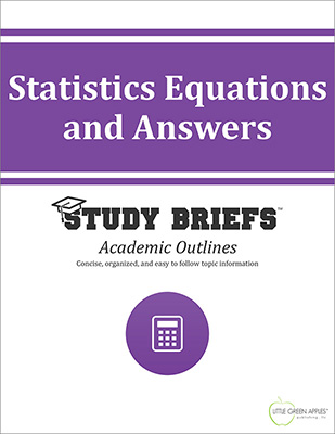 Statistics Equations and Answers cover