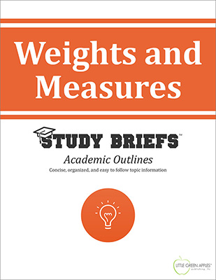 Weights and Measures cover
