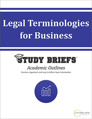 Legal Terminologies for Business cover