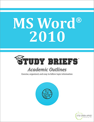 MS Word 2010 cover