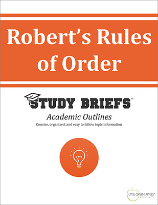 Robert's Rules of Order cover